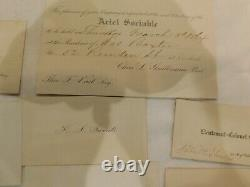 115 Civil War West Point Generals & Other Officers 15 Call Card 1860 List Bios