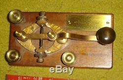 1860'S CIVIL WAR CAMELBACK telegraph key G. M. PHELPS, WESTERN UNION TELEGRAPH CO