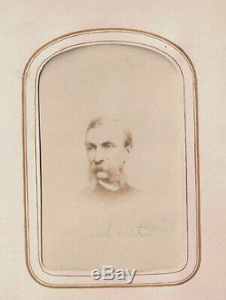 1860s CIVIL WAR 30 CDVs photo ALBUM Lincoln and Cabinet, Union Generals