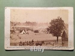 1862 Brady CDV Civil War Photo General McClellan Headquarters No. 368