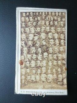 1862 Civil War 100 Union Generals CDV Fredricks New York real photograph collage
