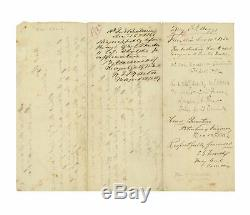 1862 Civil War Doc. Signed by Confederate Generals Roger Pryor and Samuel French