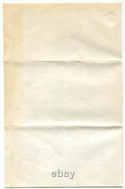 1863 Civil War General Winfield Scott Autograph Letter Signed