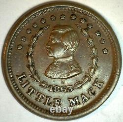 1863 Copper Patriotic Civil War Token General McClellan Little Mack Metal For 1c