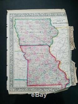 1863 Mitchell's New General Atlas COMPLETE & ORIGINAL 84 Civil War Era Maps