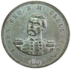 1864 GENERAL GEORGE McCLELLAN CIVIL WAR CAMPAIGN WM MEDAL DEWITT-GMcC-1864-9