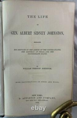 1878 1st Edition Life of General A. S. Johnston Confederate Civil War Texas