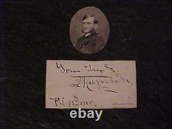 1880 Union General Hugh Judson Kilpatrick Autographed Signed Cut Civil War
