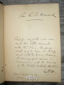 1887 INDIAN HISTORY X-RARE Tribes Massacres Scalping SIGNED BY CIVIL WAR GENERAL