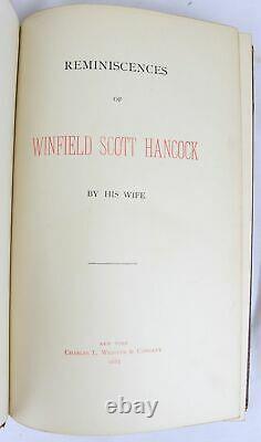 1887 REMINISCENCES OF GENERAL WINFIELD SCOTT HANCOCK 1st ED civil war GETTYSBURG