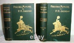 1888 First Edition General P. H. SHERIDAN Memoirs, Civil War American Indians