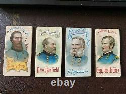 1889 N78 DUKE Heroes of the Civil War Four Generals booklets VG-VG+ Quick Sale