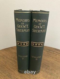 1890 Personal Memoirs of General William Tecumseh Sherman 3rd Ed Civil War W. T