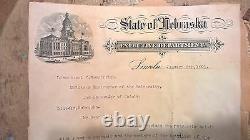 1891 signed letter by former Civil War General John Mayer