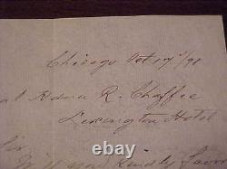 1898 General Adna Chaffee Signed Autographed Hand Written Note Civil War