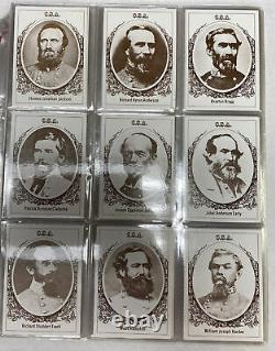 1979 Frank Garo Civil War Generals 50 Card Set 1st. Series 1st. Printing