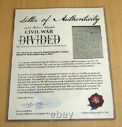 2019 Autographs Civil War Divided BRIG General William H Noble signed letter COA