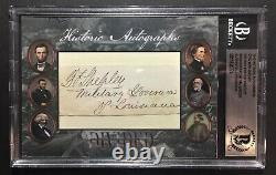 2019 Historic Autographs Civil War Divided General George Foster Shepley Auto