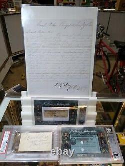 2019 Historic Autographs Civil War Divided General William Noble Beckett Lot