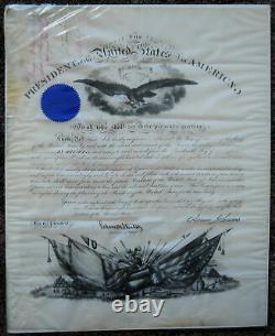 3 Civil War Brevet Commissions to West Point Officer & General President Johnson