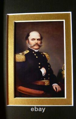 AMBROSE E. BURNSIDE MAJOR GENERAL CIVIL WAR RARE SIGNED DISPLAY withCOA