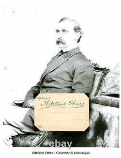 Adelbert Ames Autograph Army General Civil War Governor Senator Mississippi