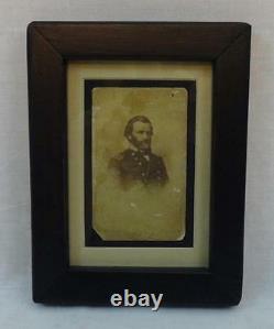 Amazing antique vintage civil war military General Grant CDV cabinet card