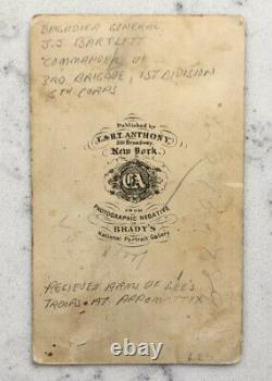 Antique CDV Photograph Union Brig General J. J. Joseph Bartlett Anthony CIVIL War