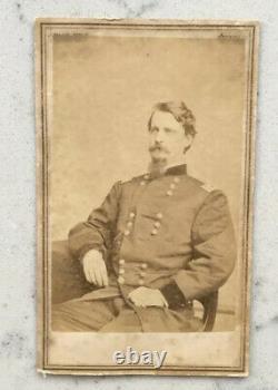 Antique CDV Photograph Union General Winfield Scott Hancock Brady CIVIL War