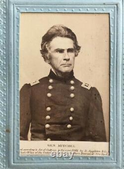 Antique CDV Photograph Union Major General Ormsby M. Mitchel CIVIL War Appleton