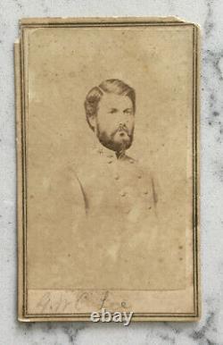 Antique CIVIL War CDV Photograph Confederate General Gwc Lee Csa Anthony