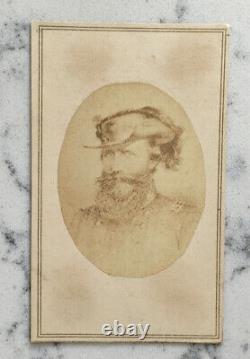 Antique CIVIL War CDV Photograph Confederate General Jeb Stuart Csa Lilianthal