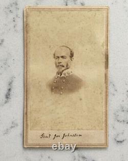 Antique CIVIL War CDV Photograph Confederate General Joseph E. Johnston Anthony
