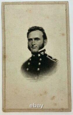 Antique CIVIL War Era CDV Photo Stonewall Jackson Confederate General