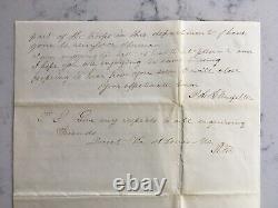 Antique CIVIL War Letter 7th Kansas Cavalry General Sherman Battle Account 1864