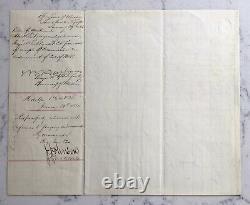 Antique CIVIL War Union Brigadier General Joseph Carr Ads Signed Document 1864