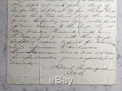 Antique CIVIL War Union Major General Daniel Butterfield Signed Letter Als 1863