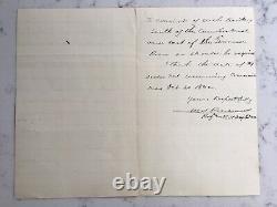 Antique CIVIL War Union Major General William S Rosecrans Als Signed Letter 1889