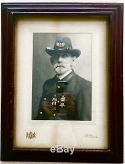 Antique Frame CIVIL War General Us Military Uniform Portrait Photograph Picture