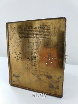 Antique tobacco tin, General Joe Wheeler in Blue Civil War Tin Cigar Box, 7