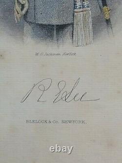 Authentic Engraving General Robert E Lee Hand Colored Wg Jackman Print CIVIL War