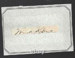 Autograph Civil War General, 7th Cavalry Major Little Big Horn Marcus Reno