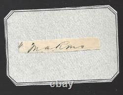 Autograph Civil War General, 7th Cavalry Major Little Big Horn Marcus Reno a
