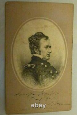 Autographed Carte de Visite (CDV) General Joseph Hooker Early Civil War
