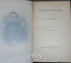 Book Civil War Army Battle President General Grant Union Lee Memoirs Union CSA