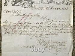 Bristol Fire Arm Co Rifles RI 1856 Letter Ambrose Burnside Civil War General