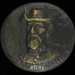 Bronze Nathan Bedford Forrest Confederate Civil War General Vintage Belt Buckle
