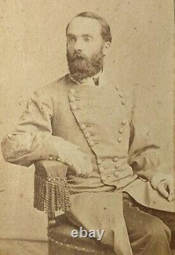 C1862 Original CDV Confederate General Joseph Fighting Joe Wheeler CIVIL War