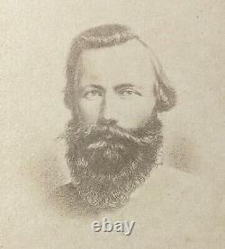 C1863 Carte De Visite Confederate General J. E. B. Stuart, C. S. A. CIVIL War
