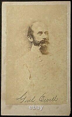 C1863 Carte De Visite Confederate Major General Richard Ewell CIVIL War Csa